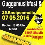 8. Guggemusikfest und 25. Kneipenmeile am 7. Mai 2016 in Merseburg.