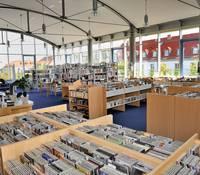 Lesesaal der Stadtbibliothek Merseburg