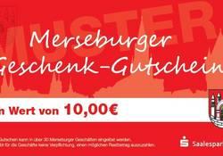 Der Merseburger Geschenkgutschein kann in zahlreichen Geschäften in der Innenstadt eingelöst werden.