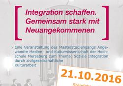 15. Merseburger Kulturgespräch zum Thema 'Kultur | Medien | Integration'.