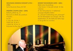 Klavierkonzert  am Sonntag, 25. September, 17.00 Uhr im Merseburger Ständehaus