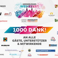 1000 Dank! ©Stadt Merseburg