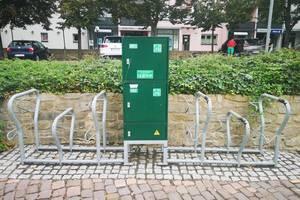 E Bike Ladestation ©Stadt Merseburg