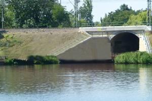 Standort der neuen Brücke ©Stadt Merseburg
