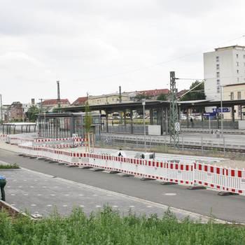 Westausgang am Merseburger Bahnhof